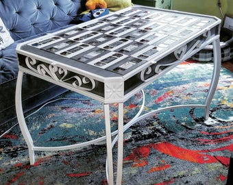 VHS Tape Table Top with Metal Frame