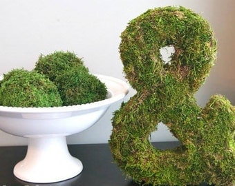moss letters, moss initial, large grass letter, large Wedding letters, Personalized moss sign, wedding grass sign