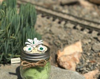Desert Flower Candle