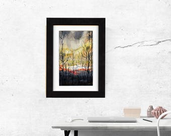 original art, original painting, gift, art, wall art, decor, gift idea, landscape idea, watercolor painting, present, large, saltwatercolors
