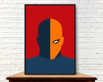 Minimalist Deathstroke Poster Minimalist Deathstroke Print Deathstroke Wall Art Deathstroke Gift Deathstroke Art Deathstroke Wall Decor