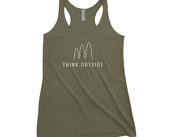 Think Outside Adventure Next Level Ladies Tri-Blend Tank