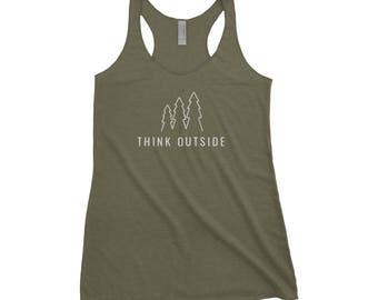 Think Outside Adventure Next Level Ladies Tri-Blend Tank