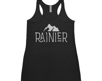 Mt. Rainier National Park Adventure Next Level Ladies Tri-Blend Tank