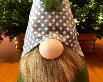 Gray and green Nordic gnome