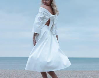 Wedding Skirt, Cotton, Bridal Separates, White Skirt, Civil Ceremony Dress, Beach Wedding, Non Traditional Wedding Dress - Melia Skirt