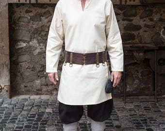 Burgschneider Medieval Larp Viking 100% Cotton Undertunic Leif