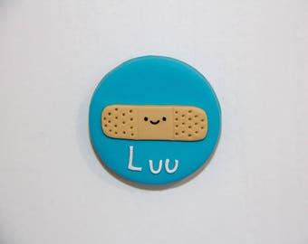Personalised Bandaid Name Badge- Handmade Polymer Clay Badge