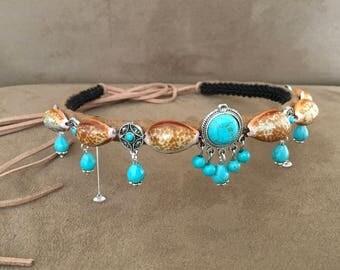 Turquoise Kuchie Headband