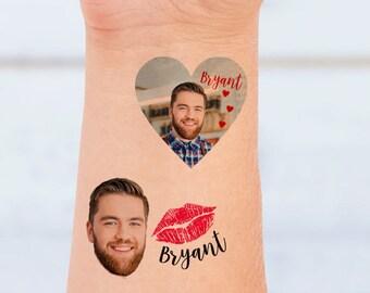 Groom Face Tattoo - Groom face Bachelorette Party tattoo - Bachelorette Party Tattoo of Groom - Temporary Tattoo - Wedding hashtag Tattoo-