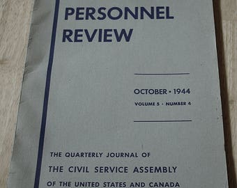 The Civil Services In The Canadian Provinces by Theodore Kraft--Public Personnel Review--October, 1944--Vol. 5, No. 4--Shipping Included