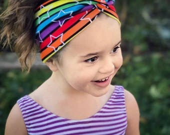 Faux twistknot headband Baby-Adult size