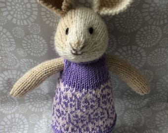 Hand knitted girl bunny rabbit