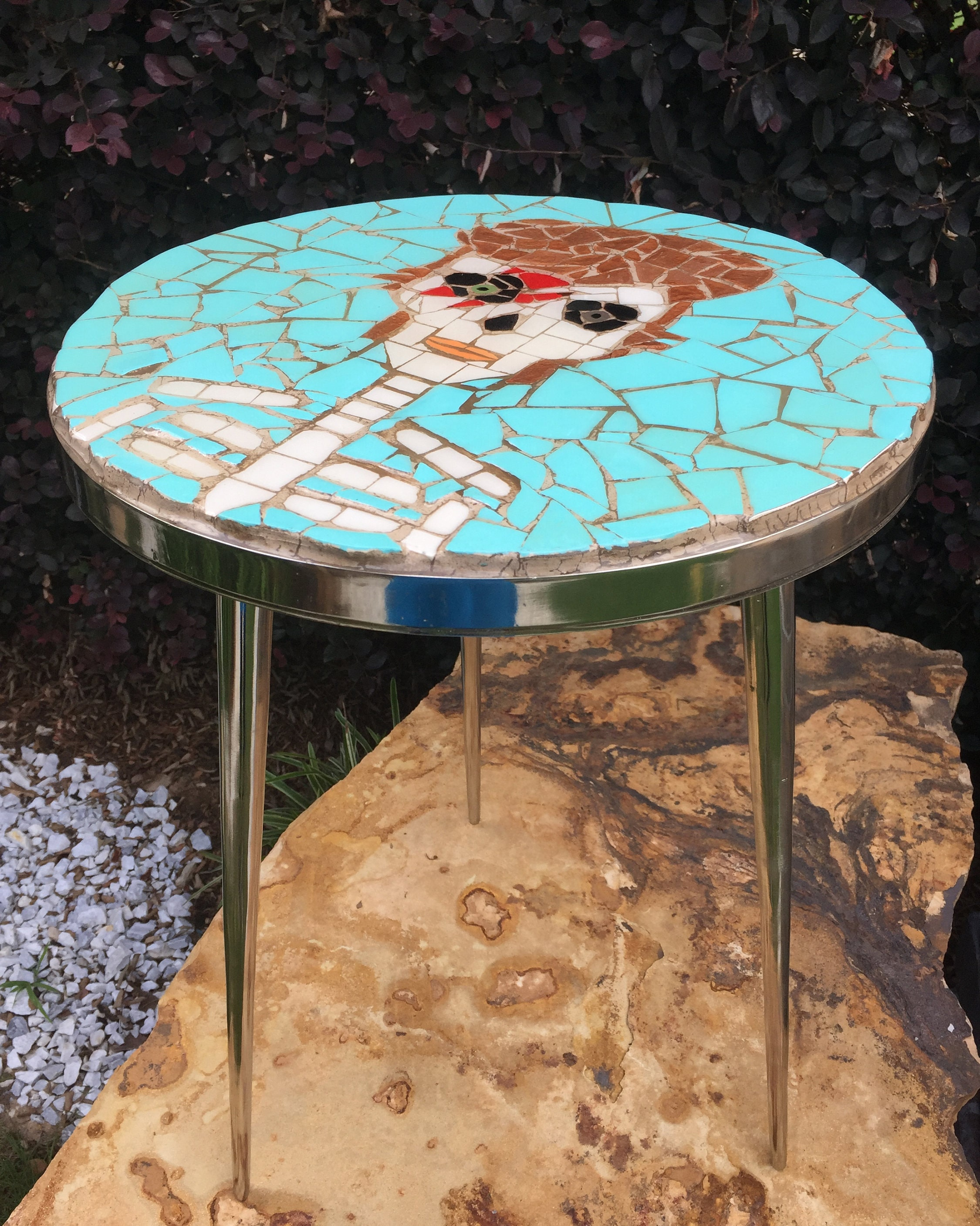 Bowie David Bowie Mosaic Table Contemporary tables Round