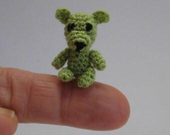 Micro crochet teddy bear