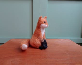 Fox felted fox needle felted vixen felting woodland animals forest fieltro feltro feutre