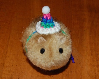 Multicolored Party Pet Hat for Guinea Pigs Hamsters Rabbits Hedgehogs Rats Bearded Dragons Costume Clothing Accessories