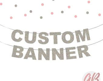 Custom glitter banner | personalised bunting lilac | Name banner | Custom birthday bunting | Party banner decoration | Wedding banner