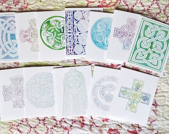 Celtic Note Card Set~Blank Greeting Card Set~Celtic Watercolor Card~Celtic Knotwork Cards~Celtic Greeting Card~Note Card Gift Set~Celt Gift
