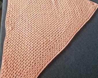 Handmade crocheted creamsicle color wrap/shawl