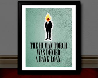 ANCHORMAN Inspired Poster Print | 11x14 | Movie Quote | Ron Burgundy | Will Ferrell | Wall Art | Home Decor