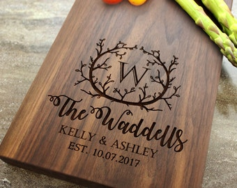 Personalized Cheese Board, Serving Board, Bread Board, Custom, Engraved, Wedding Gift, Housewarming Gift, Anniversary Gift, Engagement #1