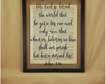 John 3 16, John 316, John 3 16 Sign, John 3 16 Wall Art, John 3 16 Scripture, For God So Loved, For God So Loved the World, Scripture Signs