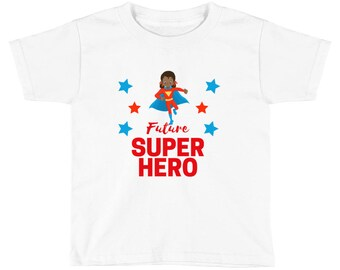 Toddler Girl's Future Super Hero African American Black Girl T Shirt