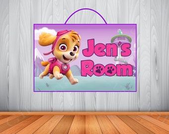 Personalized Paw Patrol Skye Sign, Paw Patrol Skye Personalized Wooden Name Sign, Paw Patrol Skye Room Decor,  Paw Patrol Skye Birthday