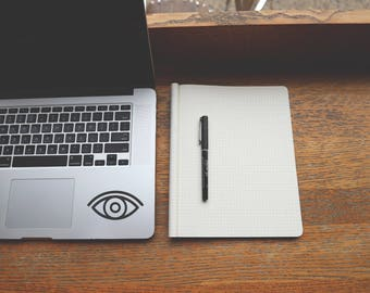 Eye Decal - Eye Sticker - Face Decal - Travel Stickers - MacBook Decals - Car Decals