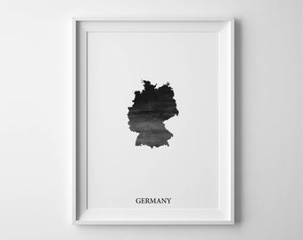 Germany watercolor map Germany map poster Germany map print Map of Germany Colorful map Germany wall art Germany map Germany poster