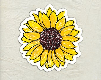 Sunflower Decal - Sunflower Vinyl Sticker - Sunflower Sticker - Car Window Decal - Laptop Sticker - Tumbler Decal