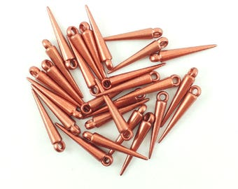 50pcs Copper Spike Charms Jewelry Findings 21mm