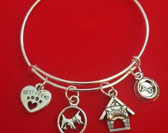Dog Lover Charm Bracelet