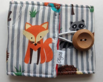 protective sleeve quilted for Cup travel Fox forest hunting raccoon Hedgehog mug cozy travel zarf protective animals owl fox raccon