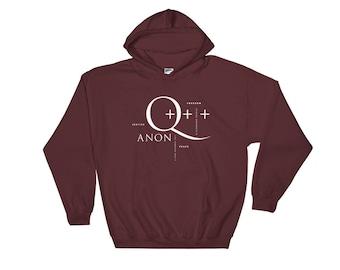 Q-Anon Hooded Sweatshirt | Conspiracy Theory | Q Clearance | Patriot | Whistleblower | POTUS | Unisex Gift Sweatshirt