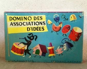 Jeu de société Domino des association d'idées nathan French vintage game domino