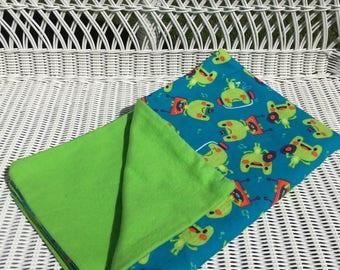 Blue Frog Receiving Blanket