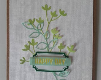"Card ""Happy days"""