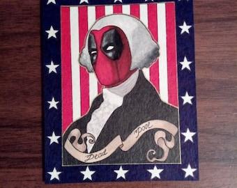 Deadpool U.S. President sketch card