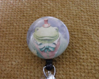 Mr. Frog Badge Reel, ID holder