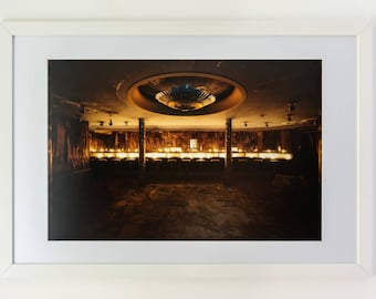 Fine art photography of a bar in an abandoned hotel in Europe