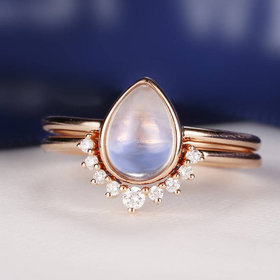 moonstone wedding rings moonstone engagement ring gold vintage delicate 6014