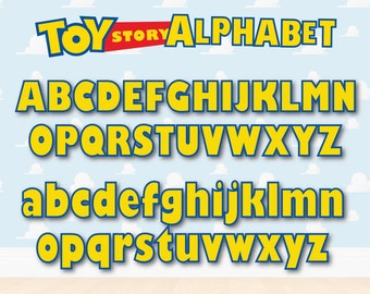 Toy Story Alphabet, Toy Story Letters, Toy Story Numbers, Toy Story Invitation, Toy Story Cliparts, 300 HD, PNG, SVG, Vector Files