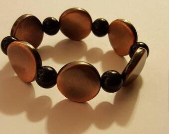 Black and Bronze Bracelet