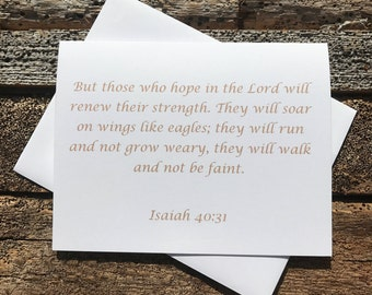 Isaiah 40:31 Bible Verse Note Card