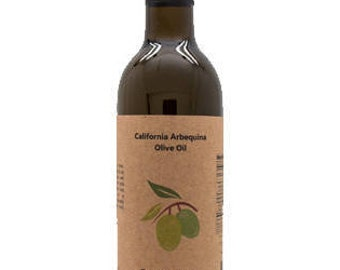 California Arbequina Olive Oil, 12.6 oz Bottle.