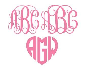 Bundle svg, Interlocking Vine Monogram Font SVG, Vine Monogram Font Cut files, Digital Font, Alphabet Svg files for Silhouette, Cricut