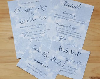 Invitation, RSVP and Save the Date, Floral Wedding Stationery