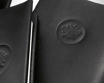 MANCHESTER BEE - Refillable Leather Journal / Notebook /Moleskin. Five Sizes available. Personalisation available.